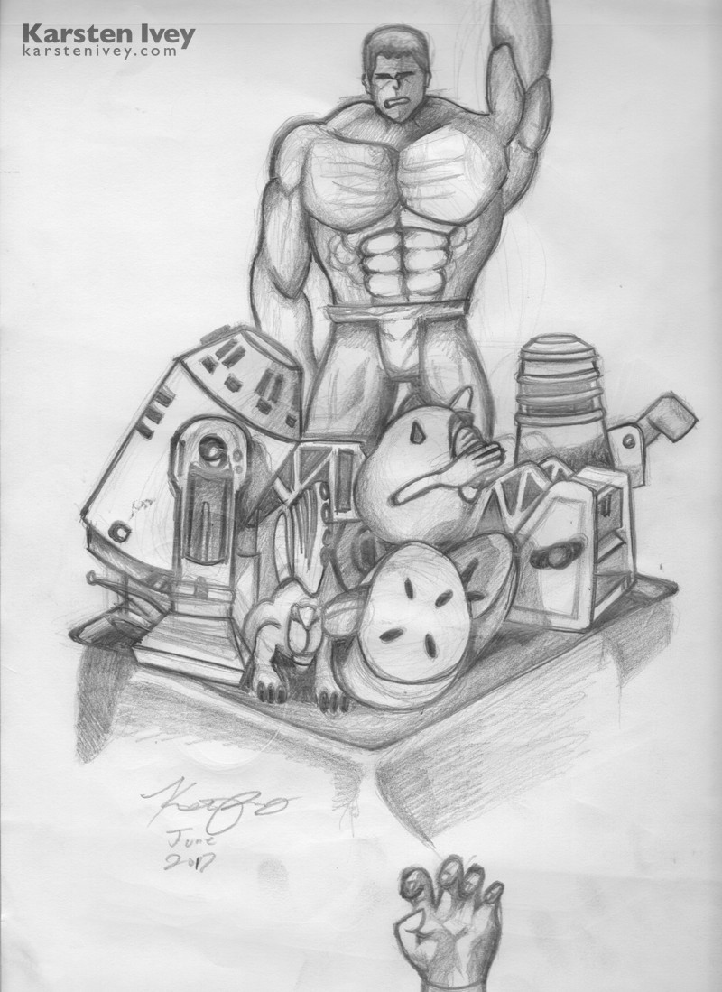 Pencil drawing marvel hulk